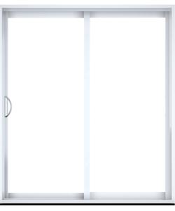 Portes patios en PCV ou aluminium